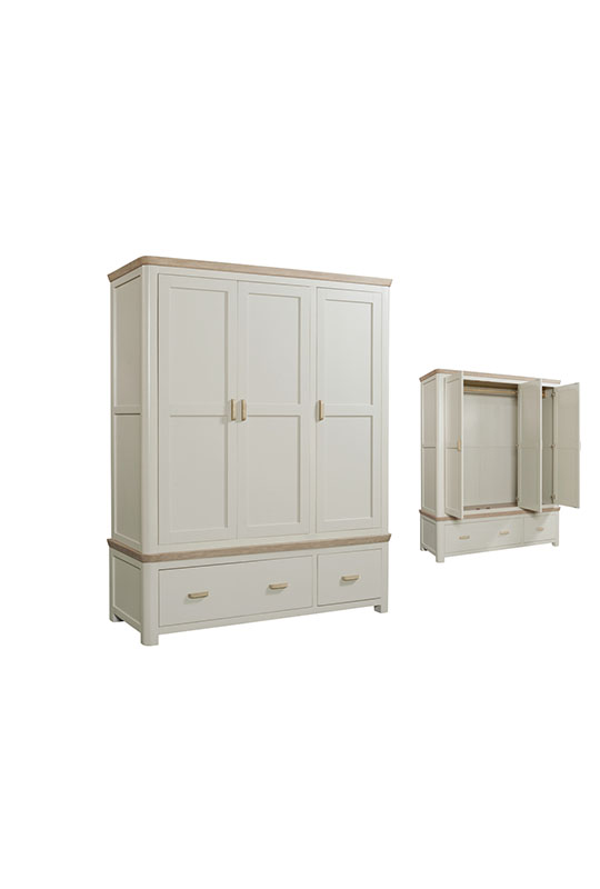 Treviso Painted Triple Wardrobe