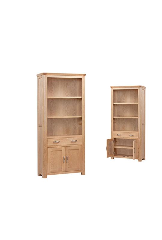 Treviso Oak High Bookcase