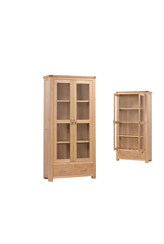 Treviso Oak Display Cabinet