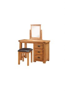 Harvest Oak Dressing Table and Stool