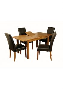 Hartford Country Oak 4′ Extension Dining Table