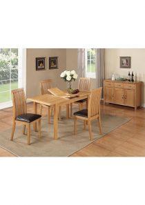 Hartford City Oak Dining Chair (Brown) (Assembled)